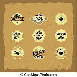 Coffee vector labels.eps