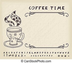 Coffee Vector Vintage Background