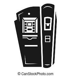 Coffee vending machine icon, simple style