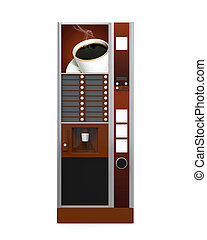 Coffee Vending Machine isolated on white background. 3D ...