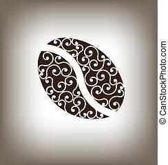 Coffee vintage Bean Logo