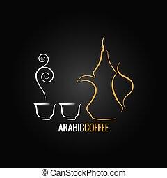 coffee vintage design backgroundarabic