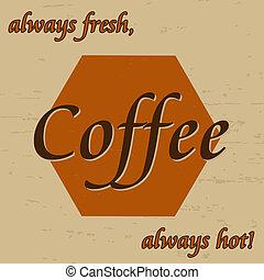 Coffee vintage poster