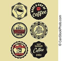 Coffee vintage retro labels