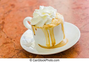 Coffee whipping cream