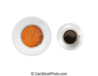 Coffee with bun