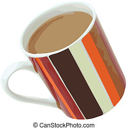 Coffee with Cream Vector Illustrati