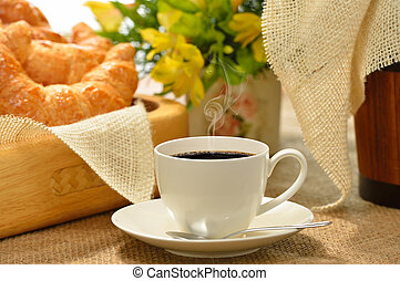 coffee with croissant