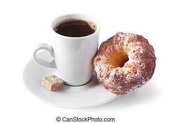 Coffee with cupcake