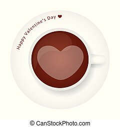 coffee with heart for valentines day