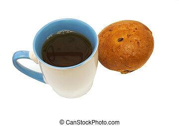 Coffee with the bun