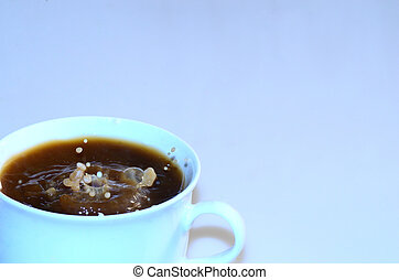 coffee with wild drops