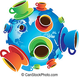 Coffee World isolated