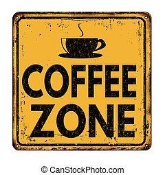 Coffee zone vintage metal sign