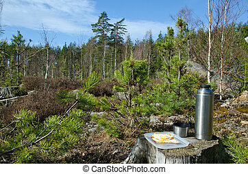 Coffeebreak in the forest