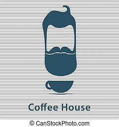CoffeeHouse logo with man