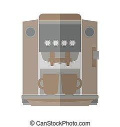 CoffeeMaker-01 - Coffee machine isolated on white...