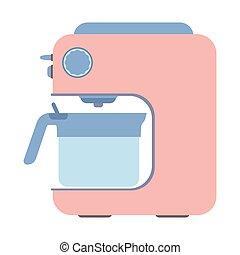 CoffeeMaker-03 - Coffee machine isolated on white...