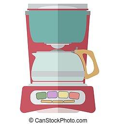 CoffeeMaker-04 - Coffee machine isolated on white...