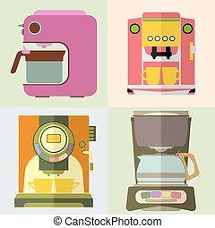 CoffeeMaker - Set of coffee machine. Espresso making machine...