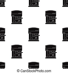 Coffeemaker icon in black style isolated on white...