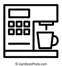 Coffeemaker line icon. Coffee machine vector illustration isolated on white. Appliance outline style design, designed for web and app. Eps 10.