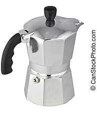 coffeepot on the white background