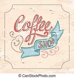 Coffeeshop - Hand Drawn Typography Logo Design Template....