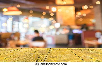 coffeeshop, verdoezelen, achtergrond, met, bokeh, image.