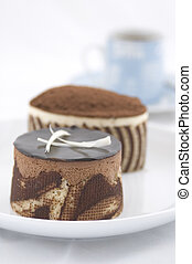 Coffeetime - Two cakes and an espresso coffee