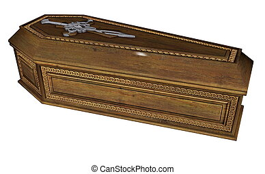 Coffin - 3D render