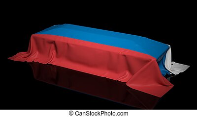 Coffin covered with the flag of France