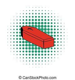 Coffin icon, comics style