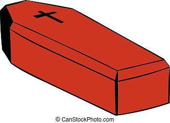 Coffin icon, icon cartoon