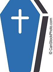 coffin vector glyph colour icon