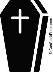 coffin vector glyph flat icon