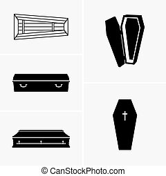 Coffins - Set of five coffins