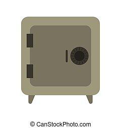 coffre-fort, sécurité, symbole