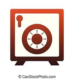 coffre-fort, symbole argent, lignes, sécurité, rouges
