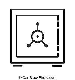 coffre-fort, symbole, assurer, argent