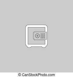 coffre-fort, symbole, informatique