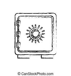 coffre-fort, symbole, sécurité