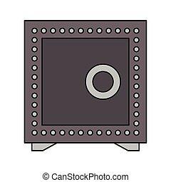 coffre-fort, symbole, sécurité, isolé, argent