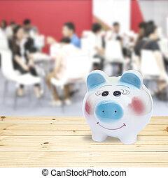 cofre, .concept, dinheiro, saving.