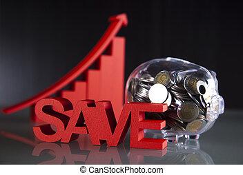 cofre, dinheiro saving
