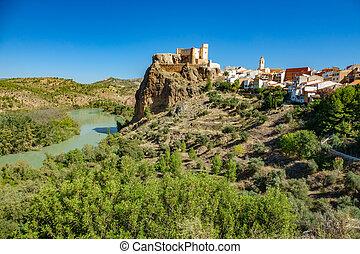 Cofrentes castle and Cabriel river - Village of Cofrentes...
