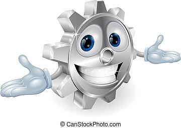 Cog cartoon character - Illustration of a cute cartoon cog...