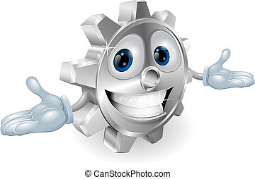 Cog cartoon character - Illustration of a cute cartoon cog...