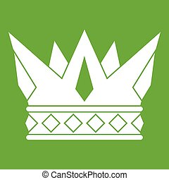 Cog crown icon green
