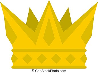 Cog crown icon isolated